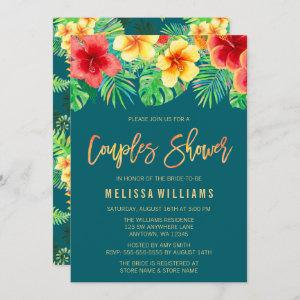 Tropical Watercolor Flowers Couples Shower Invitation starting at 2.45