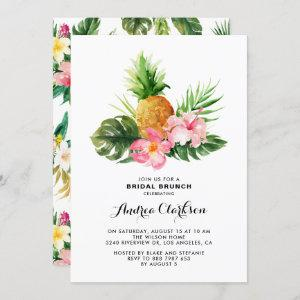 Tropical Watercolor Pineapple Floral Bridal Brunch starting at 2.40