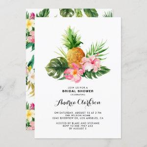 Tropical Watercolor Pineapple Floral Bridal Shower starting at 2.40