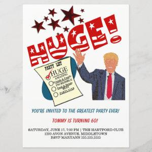 Trump Greatest Party Ever Celebrate HUGE Party Invitation starting at 3.50