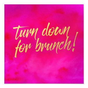 Turn Down for Brunch Invitation Pearl Shimmer starting at 4.10