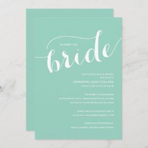 Turquoise Blue Shower the Bride Invitation starting at 2.51