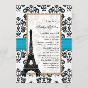 Turquoise Eiffel Tower Parisian Bridal Shower starting at 2.71