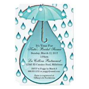 Turquoise Raindrops Bridal Shower Invitation starting at 2.91
