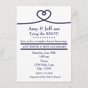 TYING THE KNOT Heart Wedding Shower Invitation starting at 2.26