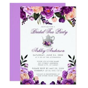 Ultra Violet Purple Bridal Shower Tea Party Invite starting at 2.51