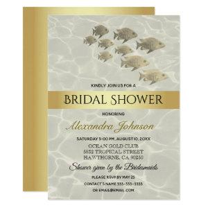 Under The Sea Gold Beach Themed Bridal Shower Invitation starting at 2.40