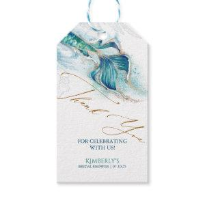 Under the Sea Mermaid Tail Bridal Shower Gift Tags starting at 9.45