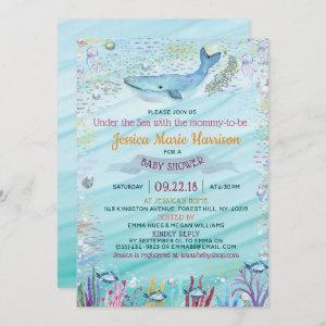 Under The Sea   Ocean Themed Baby Shower Invitation starting at 2.45