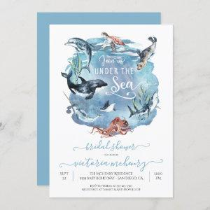 Under the Sea Watercolor Bridal Baby Shower Invitation starting at 2.40
