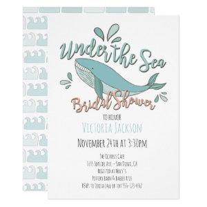 Under the Sea Whale Bridal Shower Invitation starting at 2.60