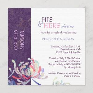 Unique Floral Purple Wedding Couples Shower Invitation starting at 2.51