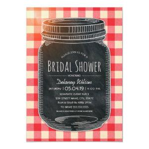 Unique Rustic Bridal Shower Vintage Mason Jar Invitation starting at 2.25