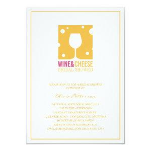 Unique Wine And Cheese Bridal Shower Invitations starting at 2.31