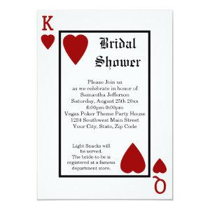 Vegas Playing Card King/Queen Bridal Shower starting at 2.98