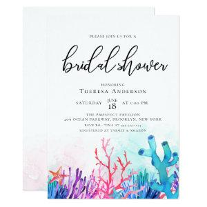 Vibrant Coral Reefs Bridal Shower Invitation starting at 2.66