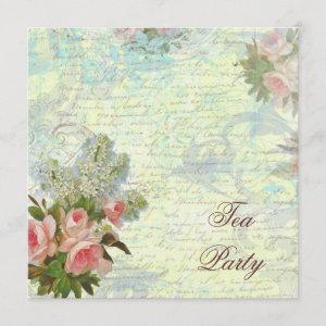 Victorian Pink Rose Tea Party Invitation starting at 3.30