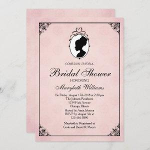 Victorian Style 60s Cameo Bridal Shower Invitation starting at 2.66
