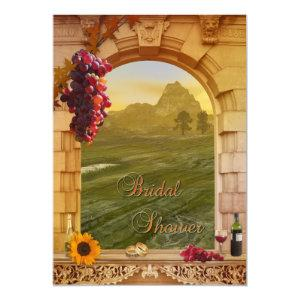 Vineyard Wine Themed Fall Bridal Shower Invitation starting at 2.66