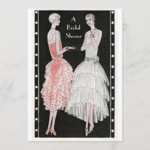 Vintage 1920's Stylish Flappers Bridal Shower Invitation starting at 2.66
