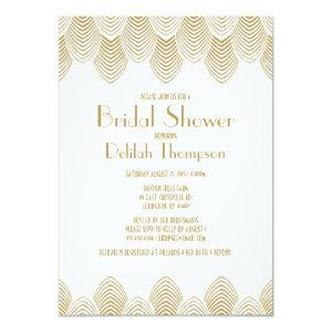Vintage 20's Art Deco Bridal Shower Invitation starting at 2.51