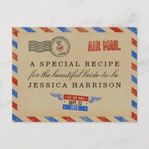 Vintage Airmail Bridal Shower Recipe Cards starting at 1.70