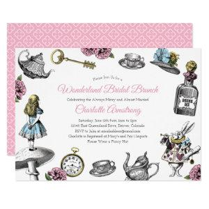 Vintage Alice in Wonderland Bridal Brunch Invitation starting at 2.40