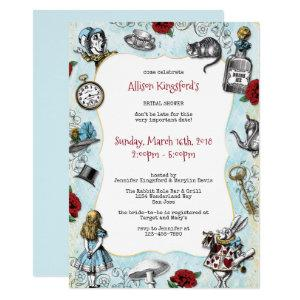 Vintage Alice in Wonderland Bridal Shower Invitation starting at 2.40