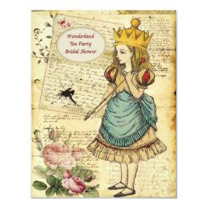 Vintage Alice in Wonderland Princess Bridal Shower Invitation starting at 2.31