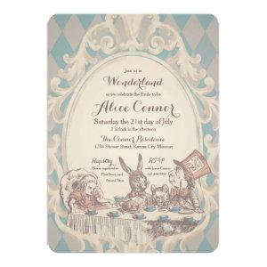 Vintage Alice in Wonderland Shower Invitations starting at 3.18