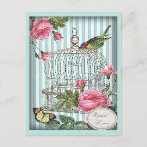 Vintage Bird, Cage, Butterfly, Roses Bridal Shower starting at 2.31