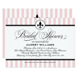 Vintage Blush Pink French Bridal Shower Invitation starting at 2.51