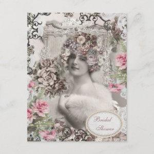 Vintage Bride with Jewels & Flowers Bridal Shower starting at 2.31