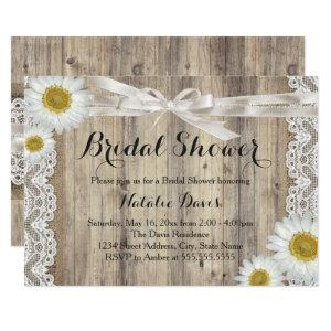 Vintage Burlap Lace & Daisy Bridal Shower Invite starting at 2.66