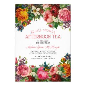 Vintage Floral | Bridal Afternoon Tea Invitation starting at 2.40