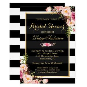 Vintage Floral Decor for Wedding Bridal Shower Invitation starting at 2.30