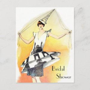 Vintage Girl in Eiffel Tower Costume Bridal Shower starting at 2.31