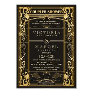 Vintage Great Gatsby Couples Shower Invitation starting at 2.65