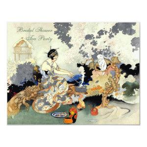 Vintage Japanese Garden Tea Party Bridal Shower Invitation starting at 2.31