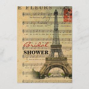 vintage music notes french paris eiffel tower starting at 2.42
