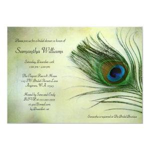 Vintage Peacock Feather Bridal Shower Invitations starting at 2.51