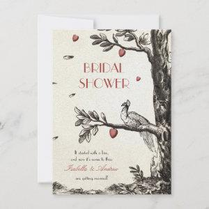 Vintage Peacock on A Love Tree bridal shower Invitation starting at 2.26
