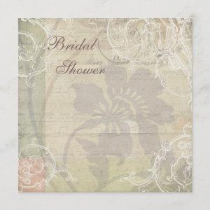 Vintage Pearls & Lace Floral Collage Bridal Shower starting at 2.51