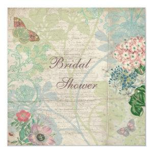 Vintage Pearls & Lace Shabby Chic Bridal Shower Invitation starting at 2.51