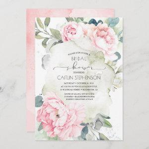 Vintage Pink Flowers and Greenery Bridal Shower Invitation starting at 2.51