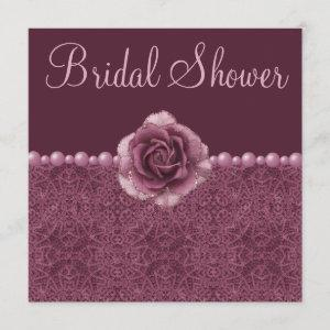 Vintage Purple Bridal Shower Roses, Pearls & Lace starting at 2.51