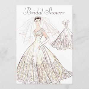 Vintage Retro 1950's Bride and Gown Bridal Shower starting at 2.66