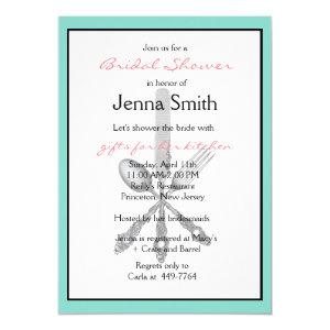 Vintage Silverware Kitchen-themed Bridal Shower Invitation starting at 3.05