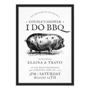 Vintage Style | I Do BBQ  | Couple's Shower Invitation starting at 2.50