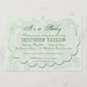 Vintage Toile Baby Shower  Green starting at 2.98